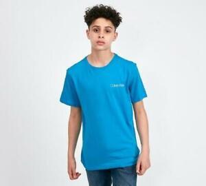 Junior Calvin Klein Logo Blue T-Shirt (SJ2) RRP £27.99