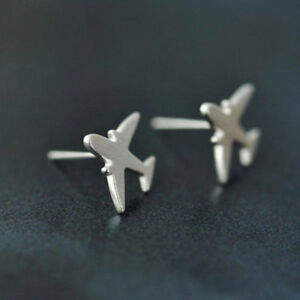 Image Is Loading Airplane Design Stud Earring Cool Aircraft Earrings Women