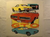 Pontiac Gto 1968 Car Of Year 12.5 X 12 T Shirt Iron On Heat Thermal Transfer