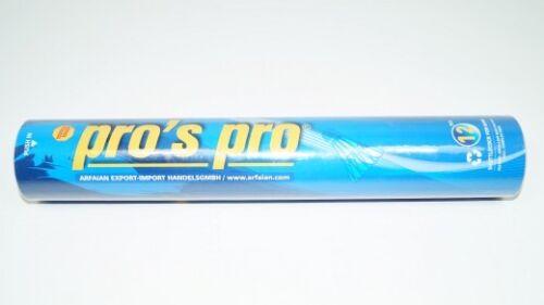 Badminton *NEU*12x Pro's Pro Entenfeder-Badmintonbälle 12er-Dose balls duck feather new