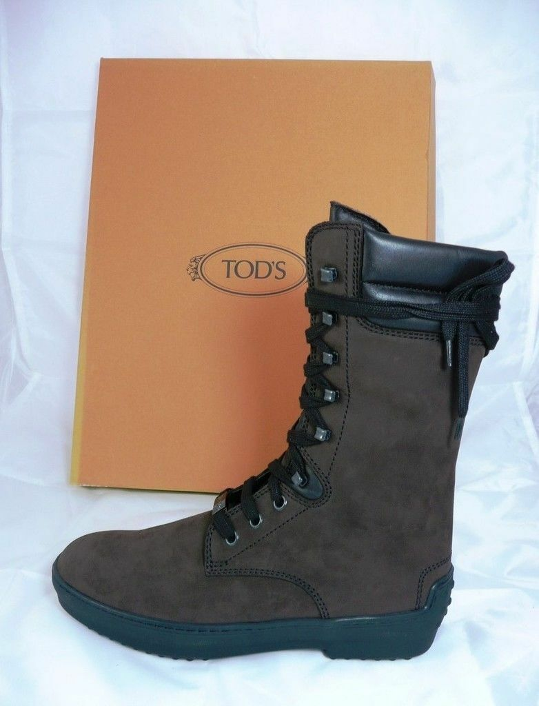 TODS TOD'S Ankle Boots Size 36,5 Boots Booties shoes Brown NEW formerly
