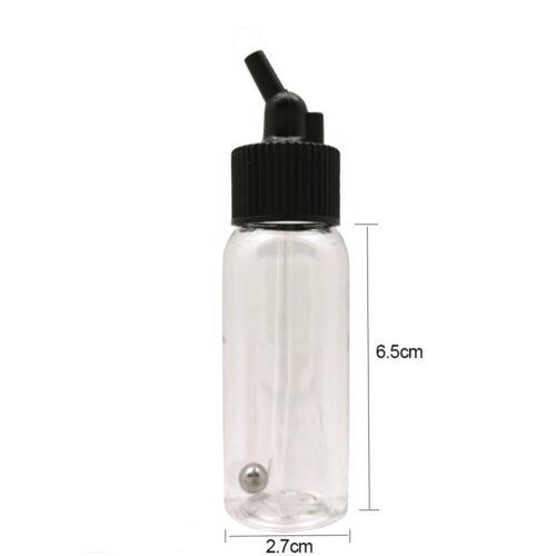 OPHIR 30ML Dual-Action Siphon Bottle with Rubber Caps Plastic Bottle Jars 10PCS