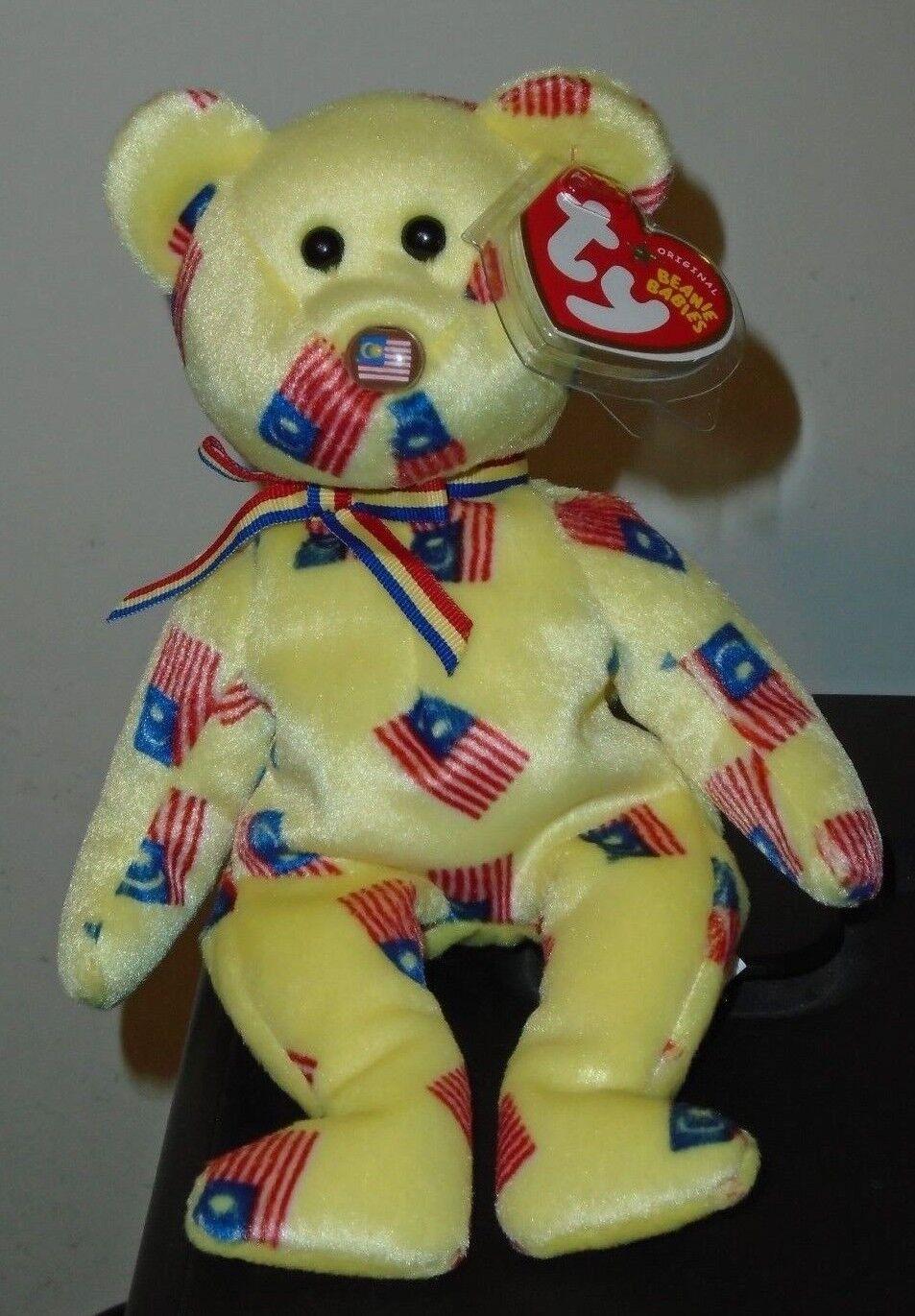 Ty Beanie Baby  NEGARAKU the FLAG NOSE Bear (Malaysia Exclusive) MWMT