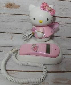 9cd43e58d Image is loading Hello-Kitty-Angel-Vintage-Telephone-Phone-Tested-amp-