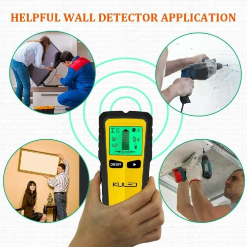 5 in 1 Multi-Function Wall Stud Sensor Detector with LCD Display Stud Finder