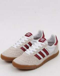 attractive price cheap for discount reliable quality adidas Indoor Super Trainers in White & Burgundy - gum sole suede ...