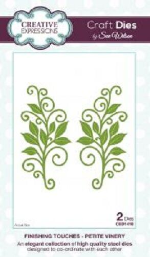 Sue Wilson FINISHING TOUCHES COLLECTION Petite Vinery Die CED1418 Leaf Swirls