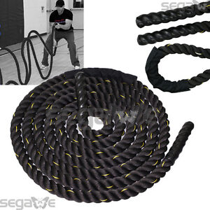 "1.5"" 40ft Poly Dacron Battle Rope Exercise Workout Strength Training Undulation"
