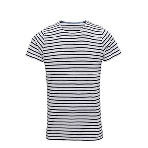 57d72e1f4c Details about Mens Navy White Stripe Breton Top Short Sleeve T-Shirt TShirt  Tee Sailor French