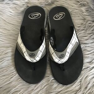 Reef-Fanning-Mens-Sandals-Bottle-Opener-Flip-Flops-Grey-White-8
