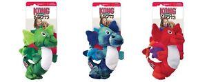 NWT-KONG-Dragon-Knots-Dog-Toy-Medium-Large-Chew-Plush-Blue-Red-Green
