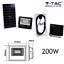 FARO-ENERGIA-SOLARE-LED-CON-PANNELLO-FARETTO-CREPUSCOLARE-TELECOMANDO-V-TAC miniatura 2