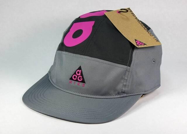 NIKE ACG DRY AW84 HABANERO RED ORANGE BLUE 5 PANEL ADJUSTABLE HAT CAP AO2104 439