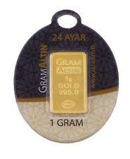1 gram karat 995.0 24 carat gold bar Goldbarren goudstaaf lingot d'or gullbar