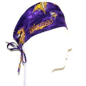 Vikings football Bouffant scrub hat