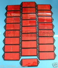 FREE P&P* 25 x RED Screw On Oblong Reflex Reflectors 125mm x 50mm - Trailers