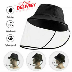 Fisherman-Hat-Protective-Clear-Saliva-proof-Dust-proof-FULL-Face-Shield-Cap-New