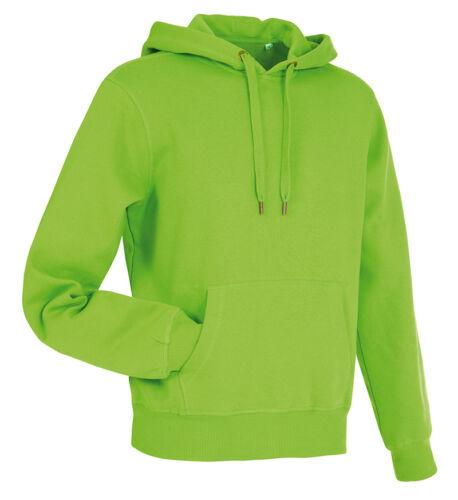 Plain Cotton Rich Active Sweat Hoodie Hoody Hooded Sweatshirt Sweat Jumper