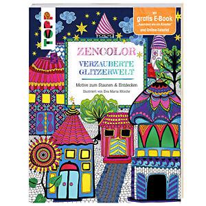 15x-Zencolor-034-Verzauberte-Glitzerwelt-034-Luxus-Malbuch-Schreibwaren-Restposten