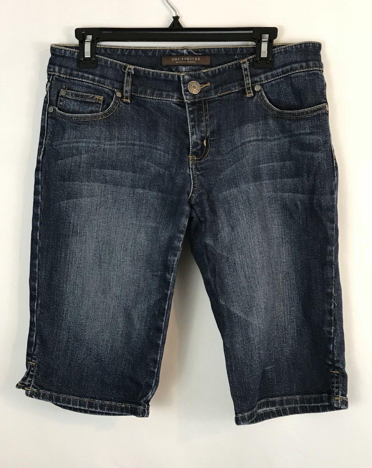 The Limited Womens Shorts Size 8 Bermuda Stretch Medium Wash (BBP11)