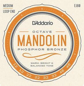 D'addario Octave Mandoline Cordes Bronze Phosphoreux Medium Boucle Fin-afficher Le Titre D'origine Cvrvowod-07163442-441478010