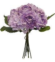 Lavender Cabbage Rose Hydrangea Bouquet Silk Wedding Flowers Centerpieces