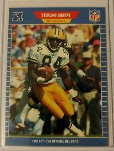 1989-PRO-SET-STERLING-SHARPE-ROOKIE-550-GREEN-BAY-PACKERS-RC-HOF-Sharp-Card