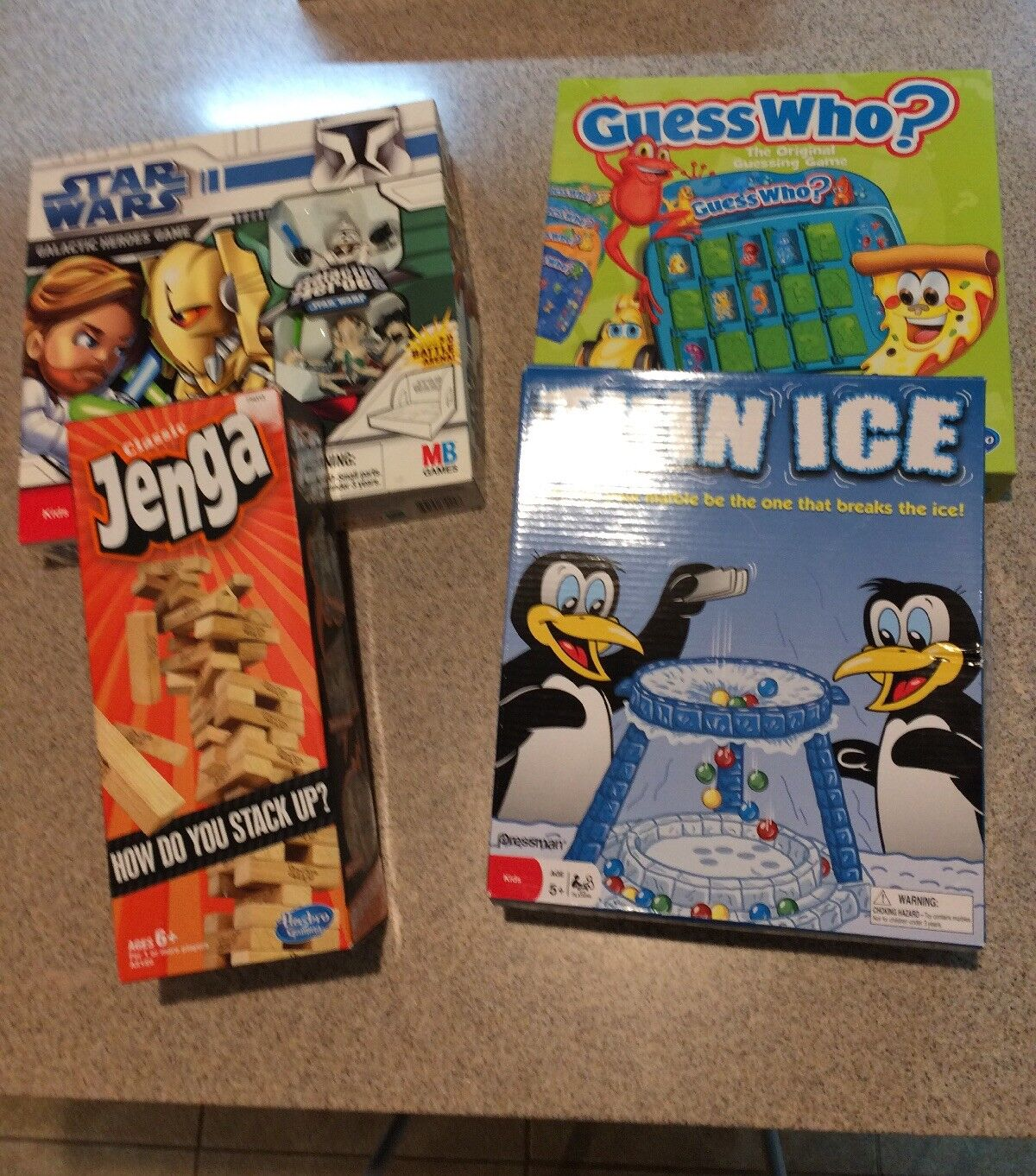 Star Wars Galactic Heroes, Thin Ice, Guess Who, Jenga For Ages 5+