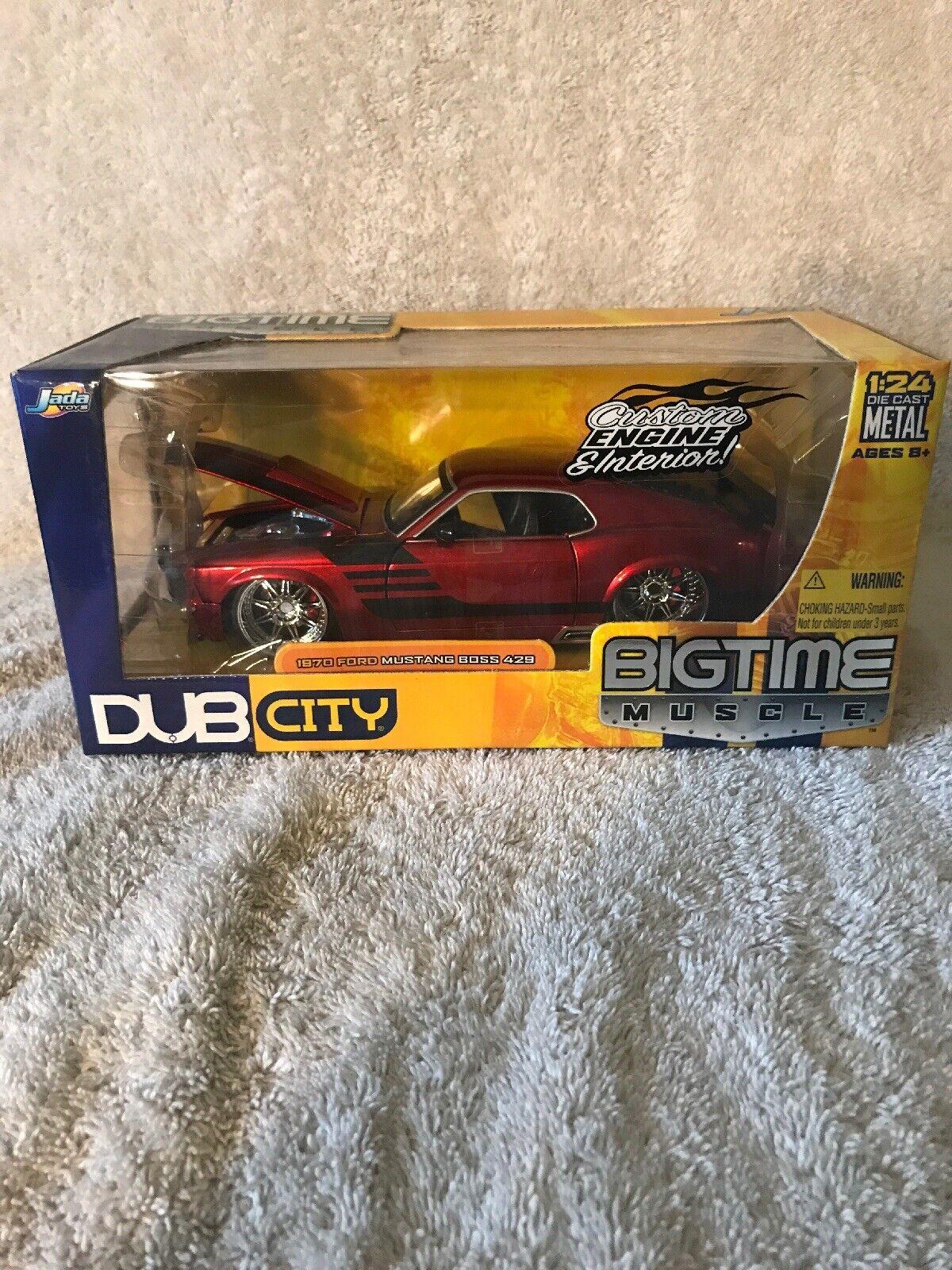 tienda de venta Jada Dub City 1 24 Rojo Rojo Rojo 1970 Ford Mustang Boss 429 Big Time Músculo Nim. Vhtf   mejor servicio