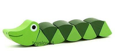 Wooden Twisting Cocodile Alligator Toy Educational Gift for Kid Baby Toddler
