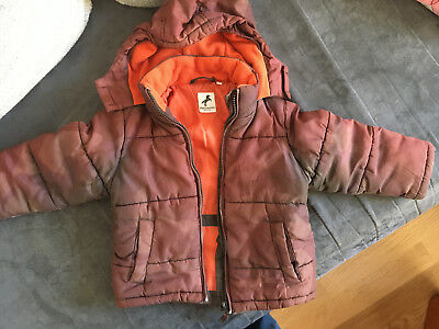 Winter Jacke Kinder Gr. 98 Jungen braun orange C&A Palomino | eBay