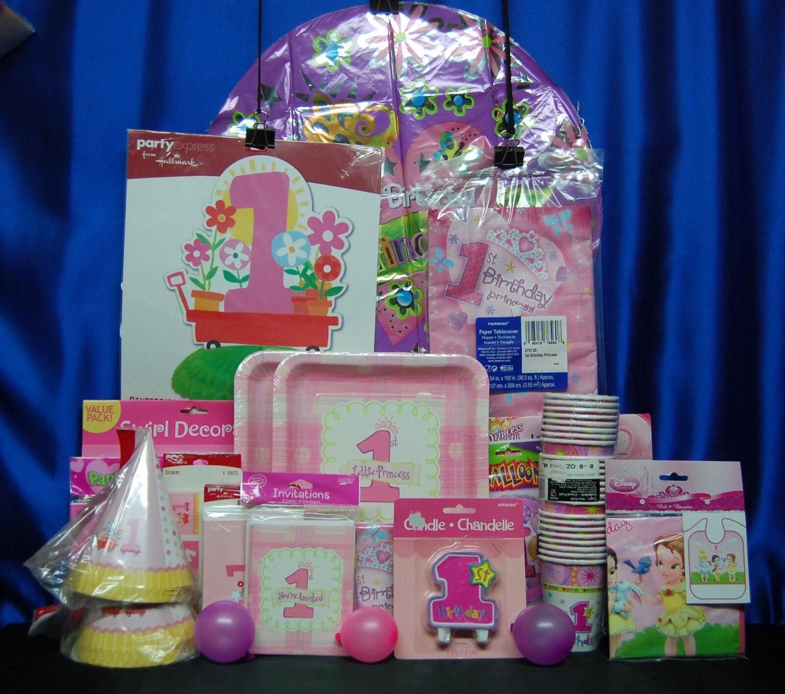 1st 19 Birthday Princess Party Set Girl Supplies Favors Bab097