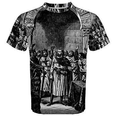 Knights Templar Freemason Sublimated Sublimation T-Shirt S,M,L,XL,2XL,3XL
