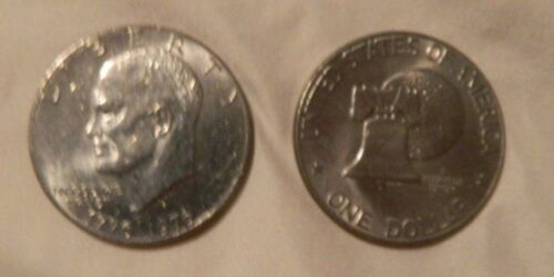 2 Beautiful  EISENHOWER 1976  Dollar COINS 2 COINS LOT--Min.Value $4.00+
