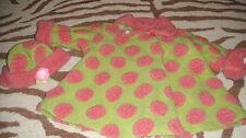 CORKY & COMPANY 4T GREEN PINK POLKA DOT COAT AND HAT