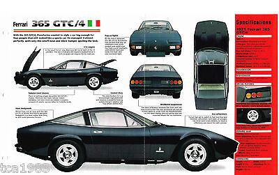 1970/1971 Ferrari 365 Gtc/4 Imp Brochure