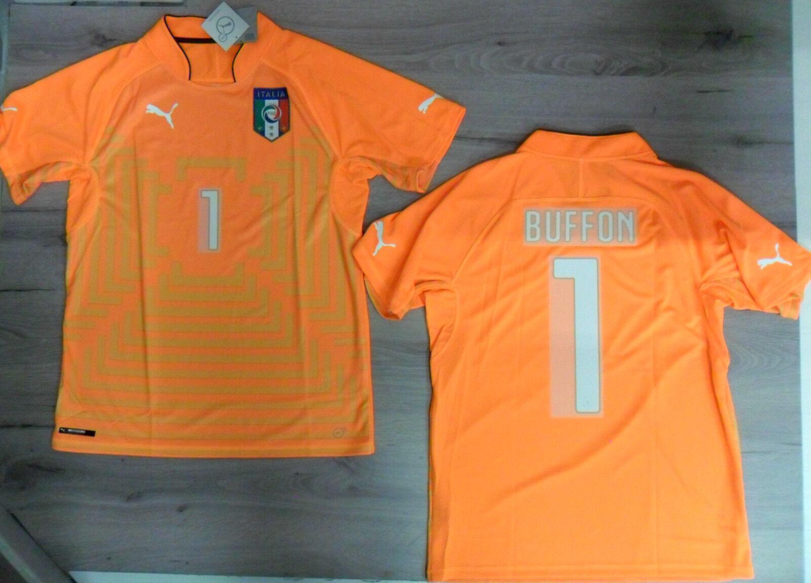 Fw14 Puma XXL Italia 1 Buffon Camiseta Portero Camiseta Mundiales Shirt Jersey O