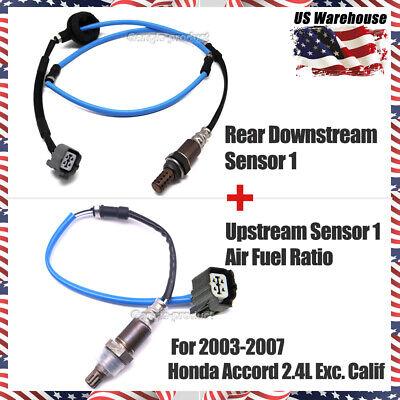 For Acura TSX Honda Accord 2.4L Front Air Fuel Ratio Rear Oxygen O2 Sensor Set