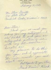 Frank Bruiser Kinard JSA Coa Autograph Hand Signed 1980 Handwritten Letter