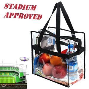 Clear-Tote-Bag-Transparent-Purse-Secure-Closure-Handbag-NFL-Stadium-Approved