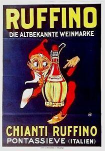 Image Is Loading Original Vintage Poster CHIANTI RUFFINO ITALY WINE 1927
