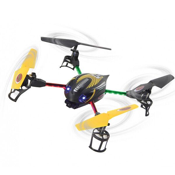 QUADRICOTTERO ACROBATICO Q-DRONE CON TELECAMERA + LED COLORATI 2,4GHZ DRONE RADI