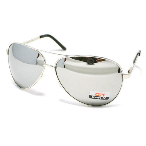 Men's Classic COP PILOT AVIATOR Fashion Sunglasses SILVER/MIRROR LENS