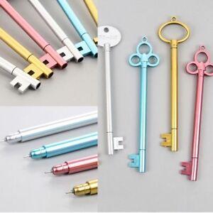 2Pcs-Cute-Key-Shape-Black-Ink-Gel-Pen-Stationery-Write-Tool-School-Office-Supply