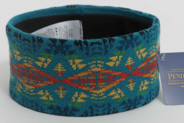 Pendleton Headband Head Band Diamond River Turquoise, To Match Blanket, Unisex
