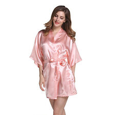 8558b93503 item 3 Womens Short Satin Kimono Robes Gown Bridal Wedding Bride Bridesmaid  Robe Dress -Womens Short Satin Kimono Robes Gown Bridal Wedding Bride  Bridesmaid ...
