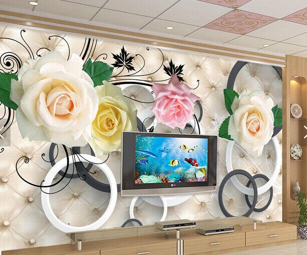 3D Elegant Flowers 70 Wallpaper Mural Paper Wall Print Wallpaper Murals UK Carly