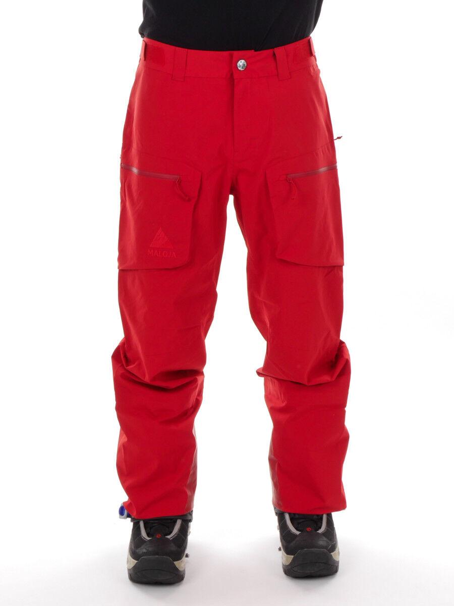 Maloja Ski Pants Winter Pants Snow Pants Red Metzm. Stretch Waterproof