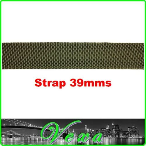 VEXA MILITARY Mens Trouser Belt Tactical Army Strap 39mm Olive Green Canvas UK