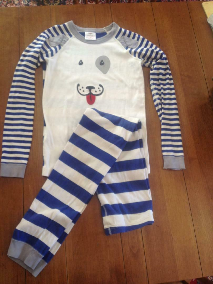 NWT Hanna Andersson Organic CAMO MIX-IT-UP LONG John Pajamas 130 8 NEW